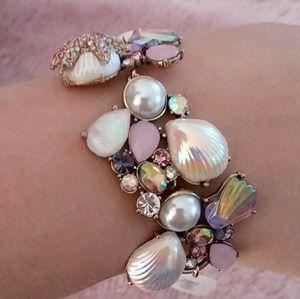 Betsey Johnson Sea Shell Starfish Bracelet NWT